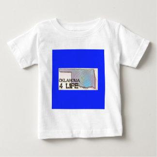 """Oklahoma 4 Life"" State Map Pride Design Baby T-Shirt"