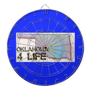 """Oklahoma 4 Life"" State Map Pride Design Dartboard"