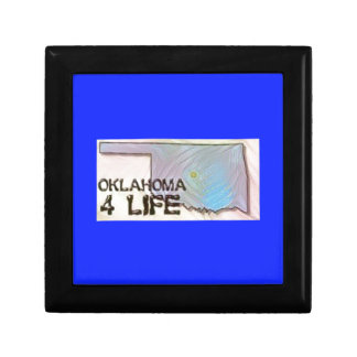 """Oklahoma 4 Life"" State Map Pride Design Gift Box"