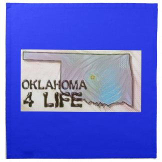 """Oklahoma 4 Life"" State Map Pride Design Napkin"