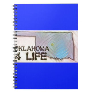 """Oklahoma 4 Life"" State Map Pride Design Notebooks"