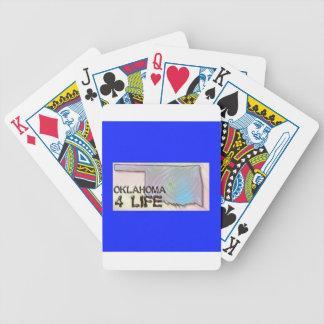 """Oklahoma 4 Life"" State Map Pride Design Poker Deck"