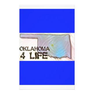 """Oklahoma 4 Life"" State Map Pride Design Stationery Design"