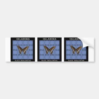 Oklahoma Black Swallowtail Butterfly Bumper Sticker