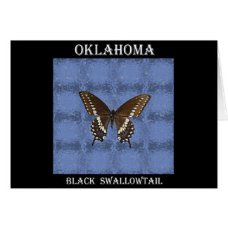 Oklahoma Black Swallowtail Butterfly Greeting Card