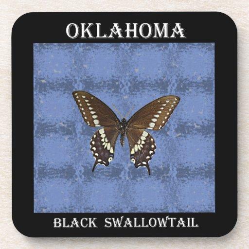 Oklahoma Black Swallowtail Butterfly Coaster