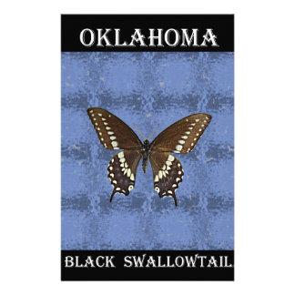 Oklahoma Black Swallowtail Butterfly Customized Stationery