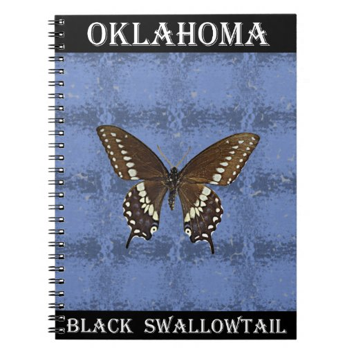 Oklahoma Black Swallowtail Butterfly Spiral Notebooks