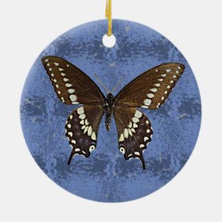 Oklahoma Black Swallowtail Butterfly Round Ceramic Decoration