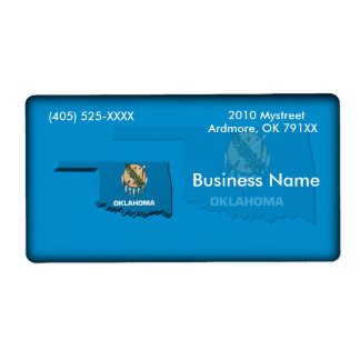 Oklahoma Business Label Shipping Label