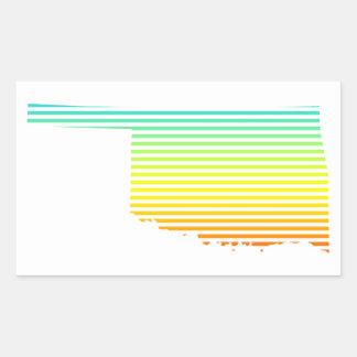 oklahoma chill fade rectangular sticker