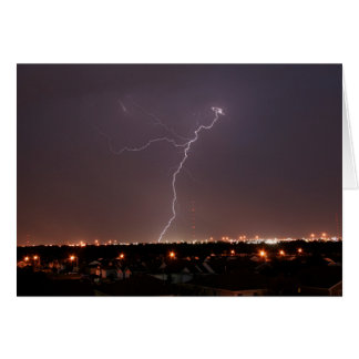 Oklahoma City Lightning Greeting Card