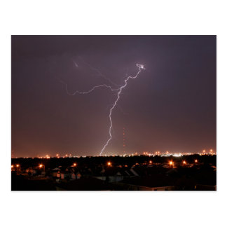 Oklahoma City Lightning Postcard