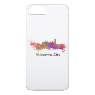 Oklahoma City skyline in watercolor iPhone 8 Plus/7 Plus Case