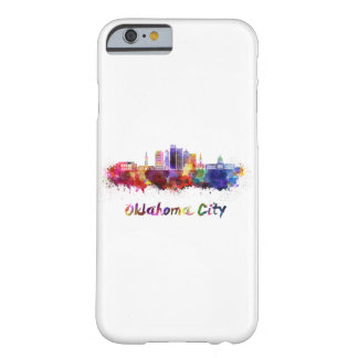 Oklahoma City V2 skyline in watercolor Barely There iPhone 6 Case