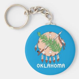 Oklahoma collectors flag key chain