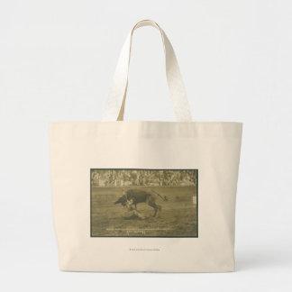 Oklahoma Culy bulldogging. Bags