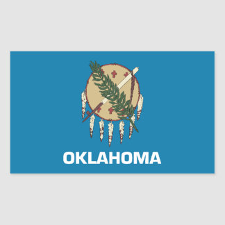 Oklahoma Flag Rectangular Sticker
