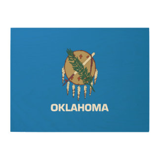 Oklahoma Flag Wood Wall Decor