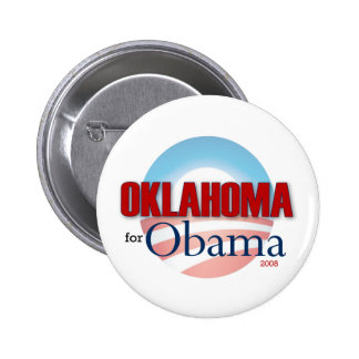 OKLAHOMA for Obama 6 Cm Round Badge