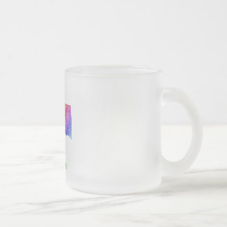 Oklahoma Frosted Glass Coffee Mug