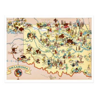 Oklahoma Funny Map Postcard
