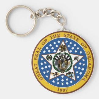 Oklahoma Great Seal Key Ring