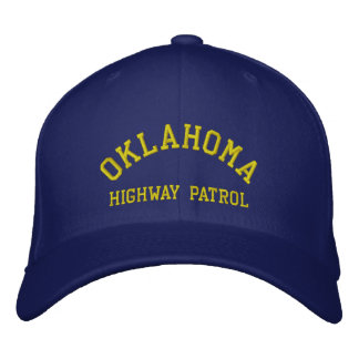 OKLAHOMA, HIGHWAY PATROL EMBROIDERED HAT
