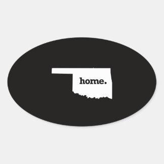 Oklahoma Home Oval Sticker