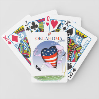 oklahoma loud and proud, tony fernandes bicycle playing cards