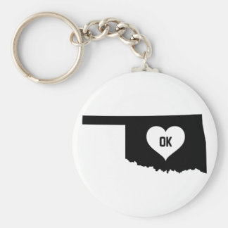 Oklahoma Love Key Ring