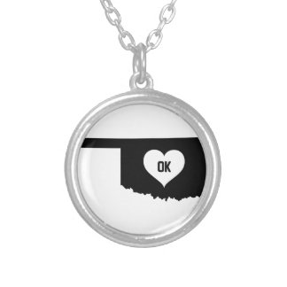 Oklahoma Love Silver Plated Necklace
