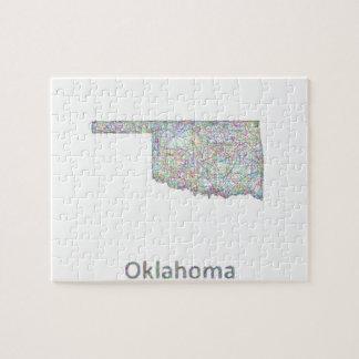 Oklahoma map jigsaw puzzle