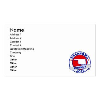 Oklahoma Mitt Romney Pack Of Standard Business Cards