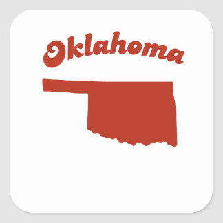 OKLAHOMA Red State Square Sticker