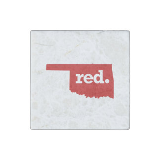 OKLAHOMA RED STATE STONE MAGNET