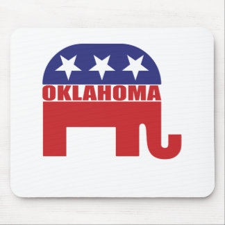 Oklahoma Republican Elephant Mouse Pads