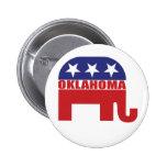 Oklahoma Republican Elephant Pinback Buttons