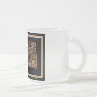 Oklahoma Rig Up Camo Frosted Glass Coffee Mug