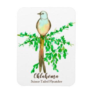 Oklahoma Scissor Tailed Fly Catcher Bird Magnet