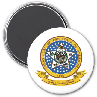 Oklahoma Seal 7.5 Cm Round Magnet