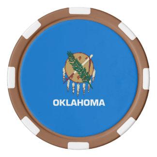 Oklahoma State Flag Design Poker Chips Set