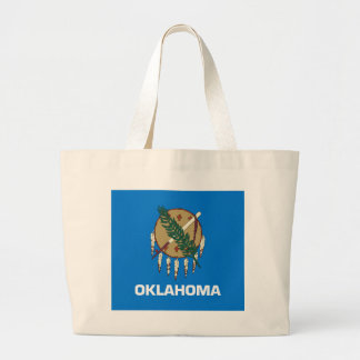 Oklahoma State Flag Large Tote Bag