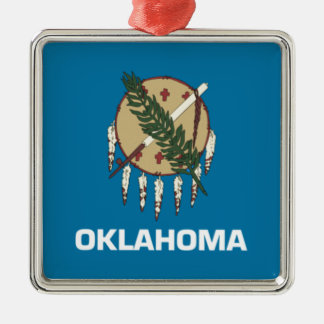 Oklahoma state flag metal ornament