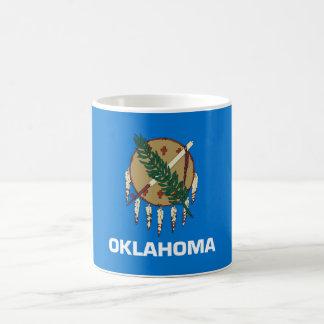 oklahoma state flag united america republic symbol basic white mug