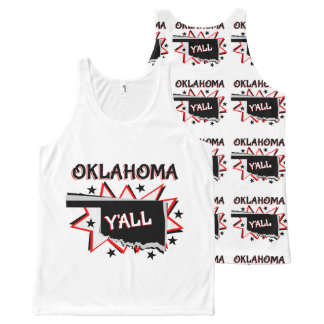 Oklahoma State Pride Y'all All-Over Print Tank Top