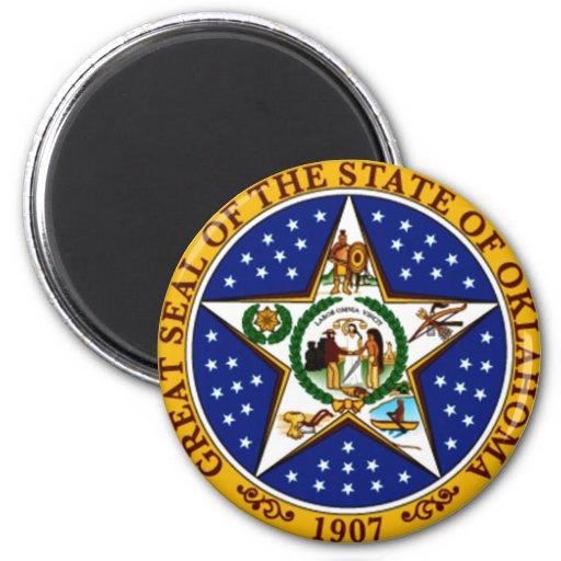 Oklahoma State Seal Fridge Magnets