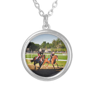 Oklahoma Training Track Silver Plated Necklace