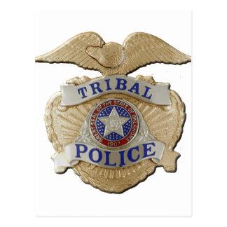 Oklahoma Tribal Police Postcard