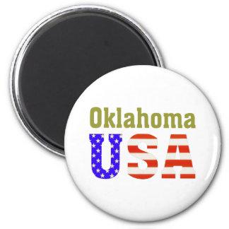 Oklahoma USA! 6 Cm Round Magnet